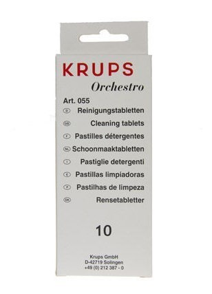 Krups F055, krups reinigingstabletten, Krups orchestro reiniging
